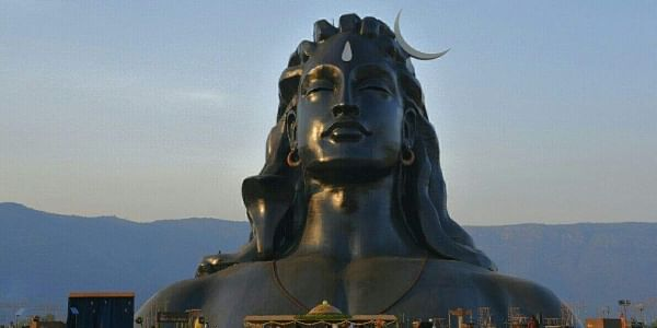 Shiva, the Adiyogi, in cosmic repose, a 112-foot statue newly unveiled on the occasion of Maha Shivaratri in Coimbatore by none other than a ardent proponent of yoga himself, Prime Minister Narendra Modi, earlier in the day. (Raja Chidambaram | EPS)