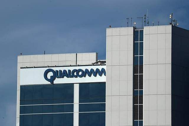 A building on the Qualcomm campus is seen in San Diego California U.S