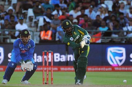 Khaya Zondo struck his maiden ODI fifty to steer South Africa to 204 even as the other batsmen failed. (Photo | AP)