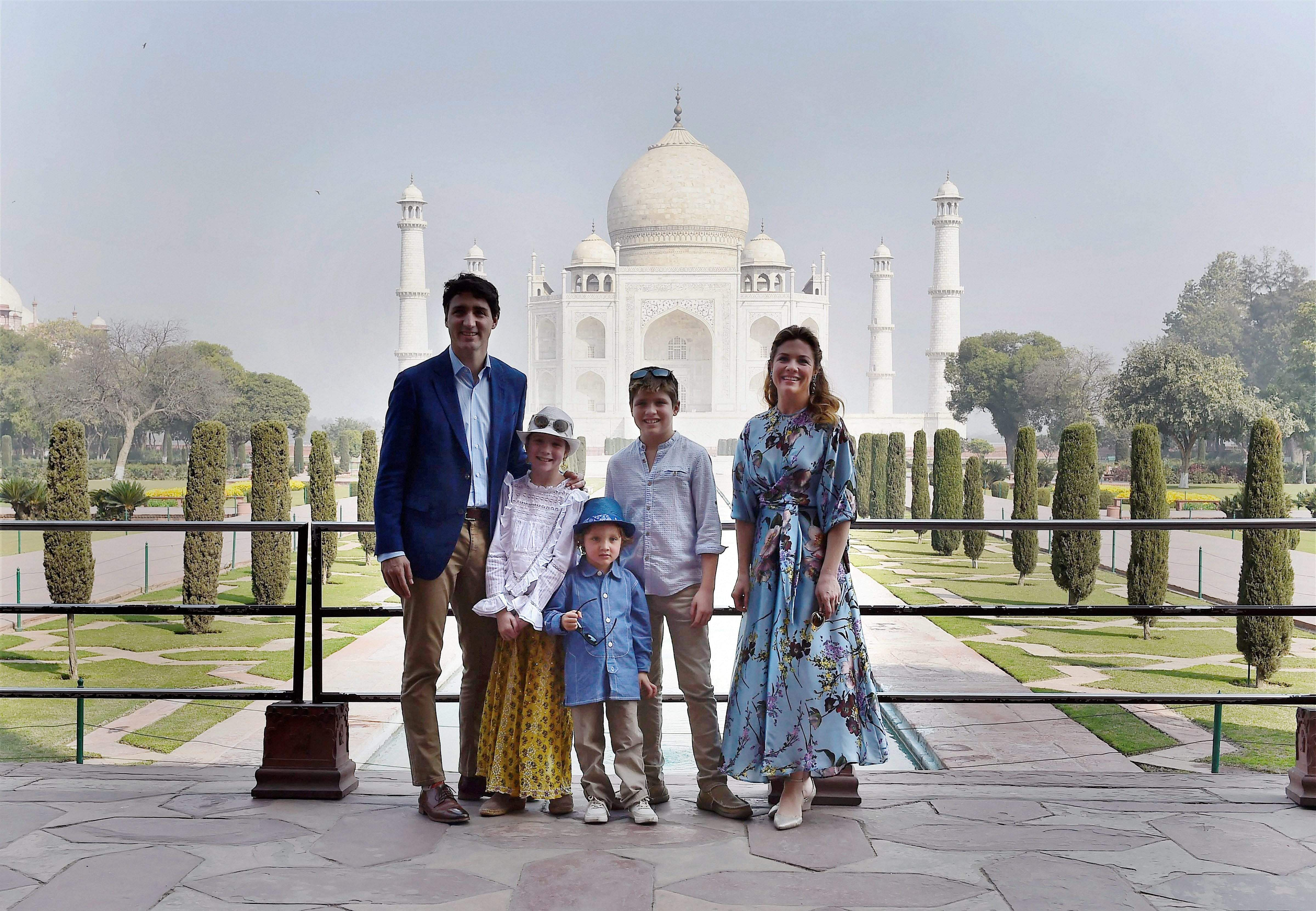 Canadian Pm Justin Trudeau Begins India Tour With Taj Mahal Visit Hails Monument As One Of The