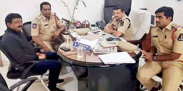 CCS police in Hyderabad questioning Ram Gopal Varma who appeared before them on Saturday in connection with obscenity case. (Picture sourced from Instagram)