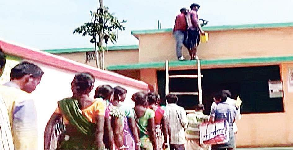 Want Aadhaar Validation For Pds Climb Atop Roof The New
