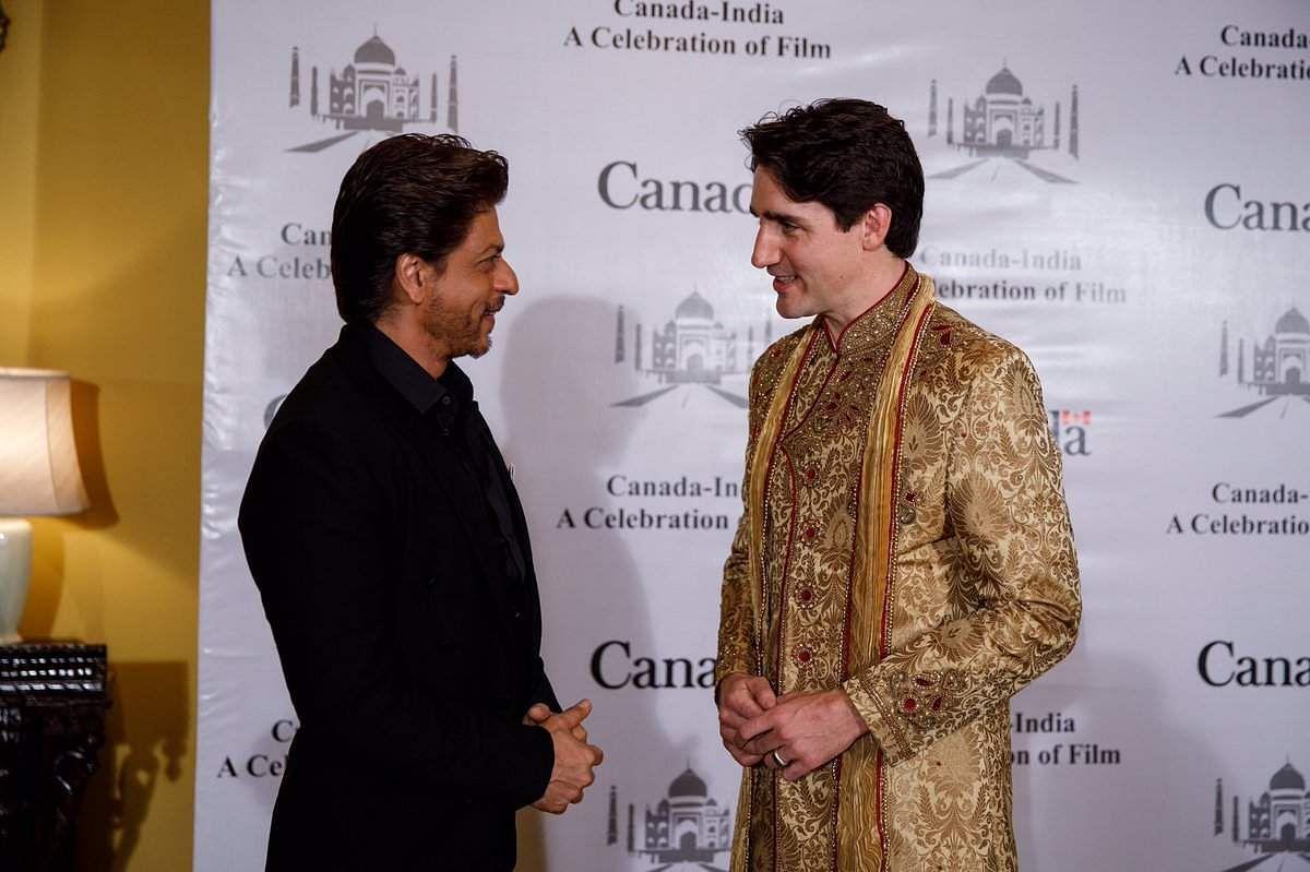 Justin Trudeau Meets Srk Farhan Akhtar Photo Twitter