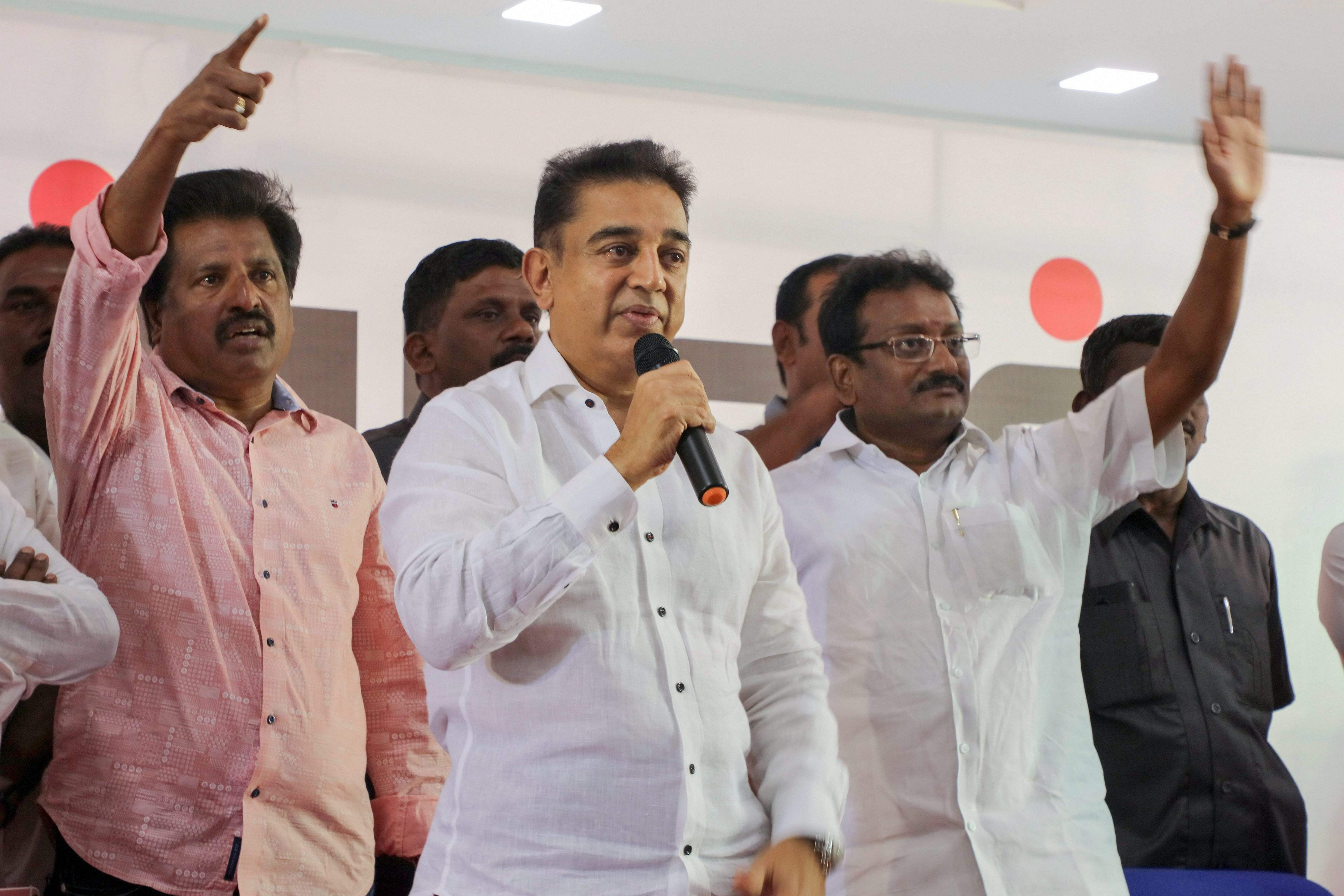 The actor-turned politician interacted with the fishermen community in Rameswaram. The interaction was a short one. He said that he he will meet them again soon and next time it will be a longer interaction and they can provide him with suggestions. (PTI)