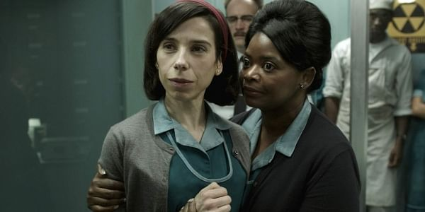 This image released by Fox Searchlight Pictures shows Sally Hawkins, left, and Octavia Spencer in a scene from the film 'The Shape of Water.' (AP)