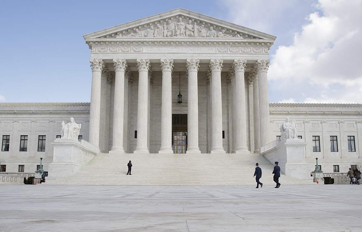 The US Supreme Court Building in Washington