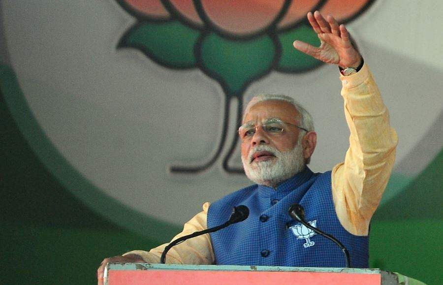 Time for Congress to go: Narendra Modi tells in Karnataka rally