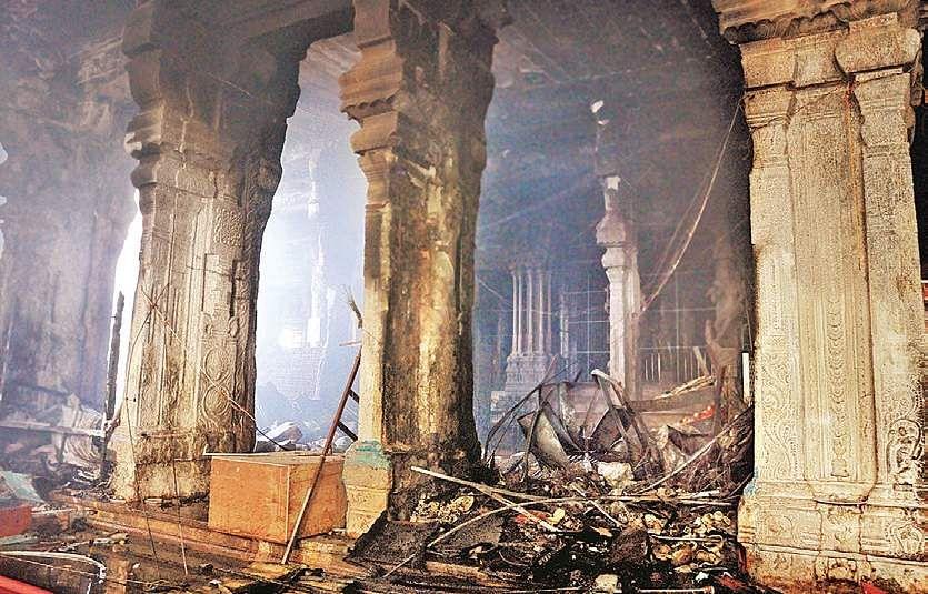 Tamil Nadu: Fire breaks out in Meenakshi Temple, several shops gutted