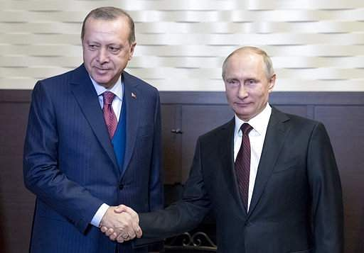 Putin, Erdogan discuss Afrin, Syria over phone call