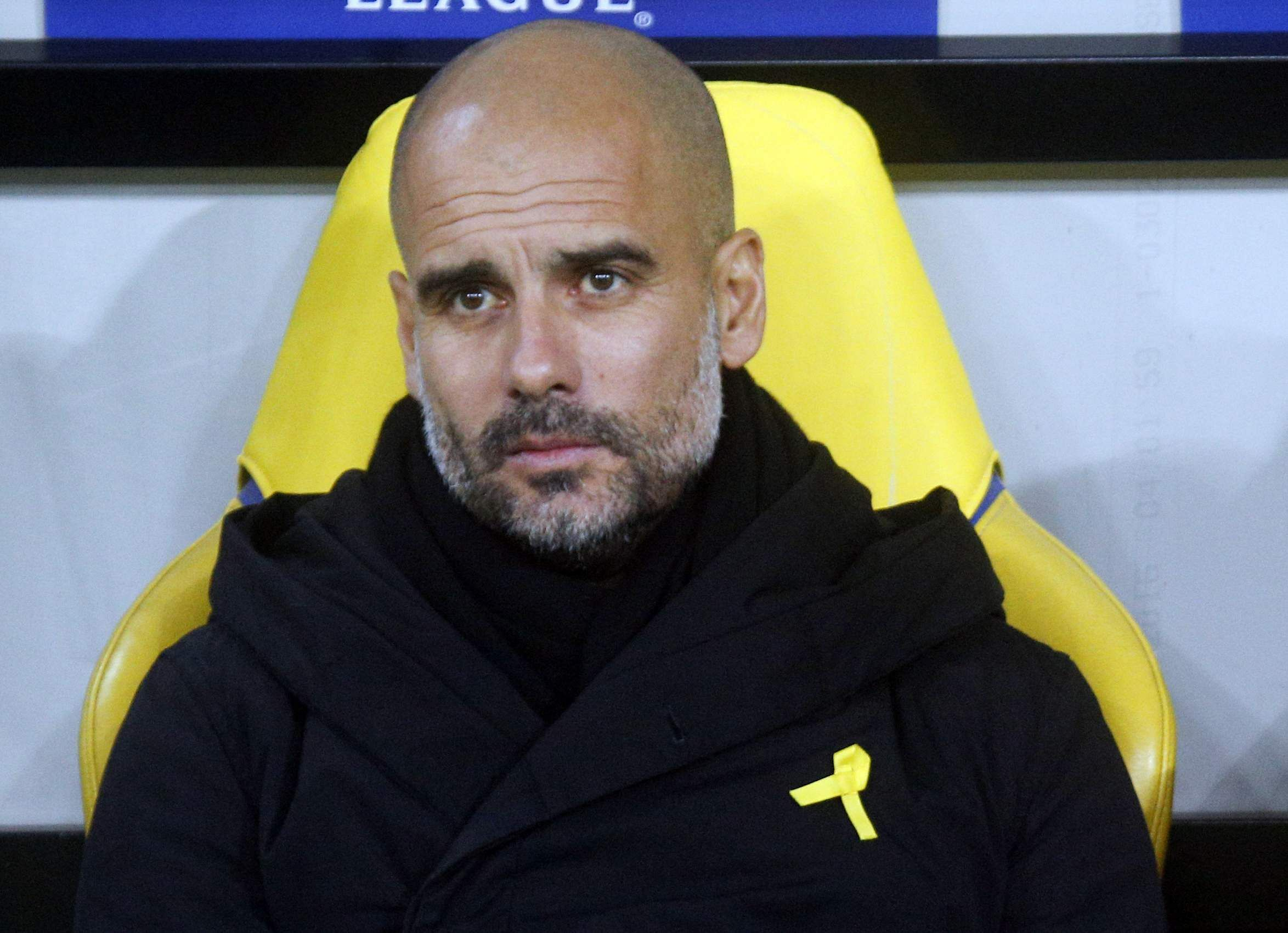 Pep Guardiola fined £20000 by FA after wearing yellow ribbon