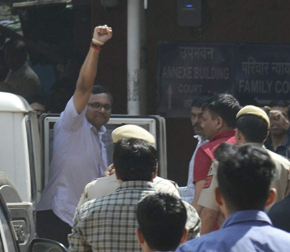 Karti Chidambaram in Tihar Jail till March 24