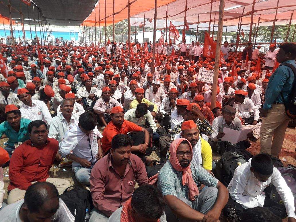 The protesters will halt at the Somaiya ground in suburban Chunabhatti tonight, and set out for Vidhan Bhavan in south Mumbai, where the Budget session is underway, tomorrow. (Photo: By special arrangement)