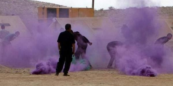 Soldiers take part in a military exercise simulating a chemical weapons attack. (File photo   AFP)