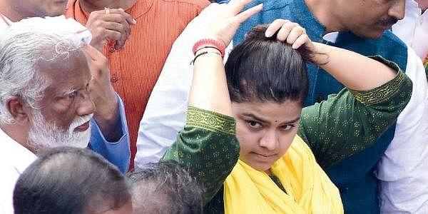 Yuva Morcha national president Poonam Mahajan