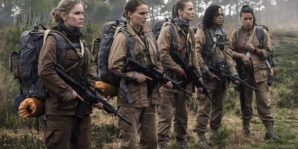 The cast of Annihilation in a still from the film.