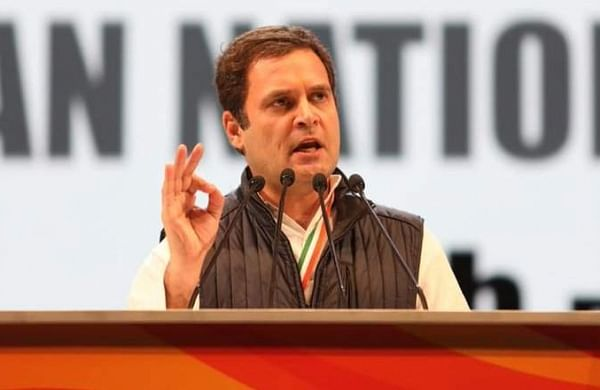 Rahul Gandhi addresses Congress leaders at the party's 84th plenary meeting in New Delhi. (Twitter | Congress)