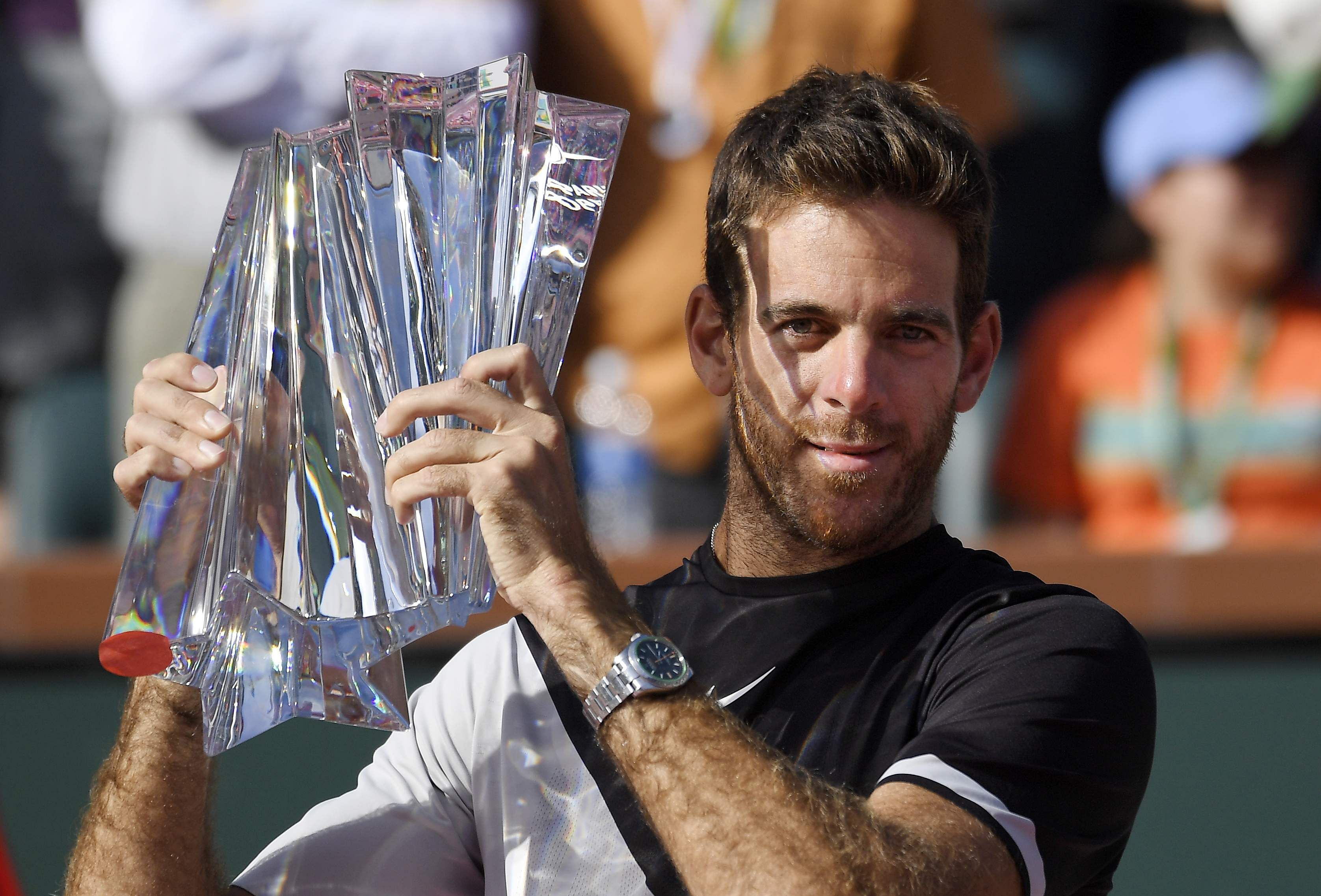 Del Potro outlasts Federer in Indian Wells final
