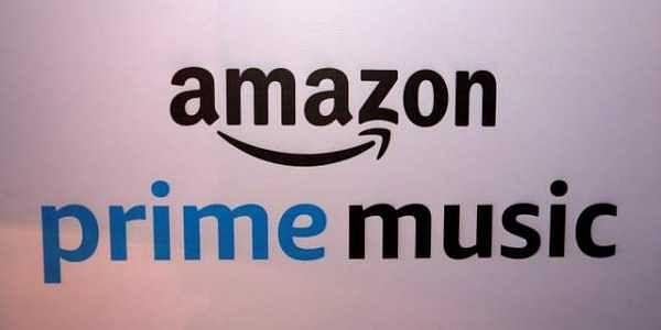 A banner displaying the Amazon Prime Music logo is seen in Mumbai. | REUTERS