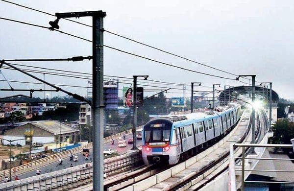 Hyderabad Metro Rail image used for representational purpose. (EPS| R Satish Babu)
