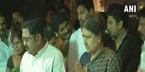 Convicted All India Anna Dravida Munerta Kazhagam (AIADMK) leader VK Sasikala reached Tamil Nadu's Thanjavur district, the place where her husband Natarajan Maruthappa's mortal remains have been kept for people to pay last respects.