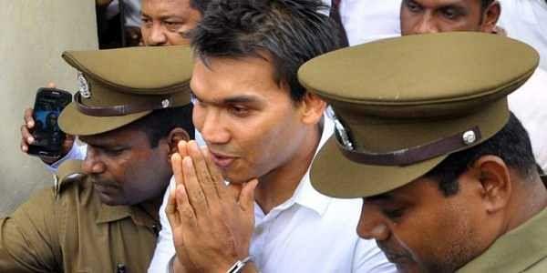 Sri Lankan member of parliament Namal Rajapakse (C), the son of former president Mahinda Rajapakse.   File AFP