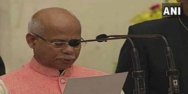 Shiv Pratap Shukla takes oath.   ANI
