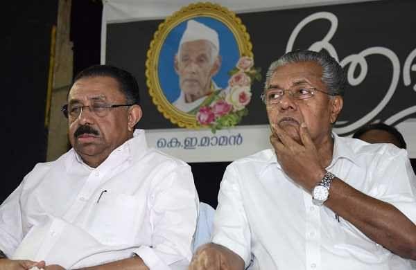 A file image of KPCC president MM Hassan and Chief Minister Pinarayi Vijayan.(Photo |EPS)