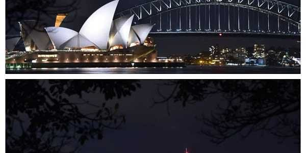 The lights went out on two of Sydney's most famous landmarks for the 11th anniversary of the climate change awareness campaign Earth Hour, among the first landmarks around the world to dim their lights for the event. | AFP