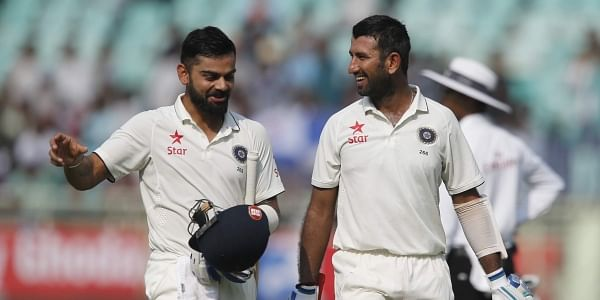 Cheteshwar Pujara and Virat Kohli  (File| AP)