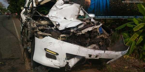 Three member family killed in road accident in Kerala's Alappuzha