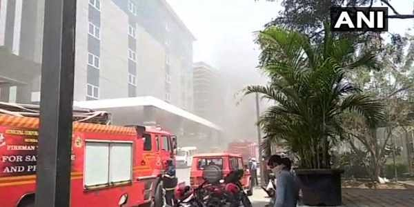 A fire broke out in the basement of a corporate building in Mumbai's Andheri area on Sunday.  The fire caught at the basement of lighthall building located in Saki Vihar Road in Andheri at around 12.16 pm.