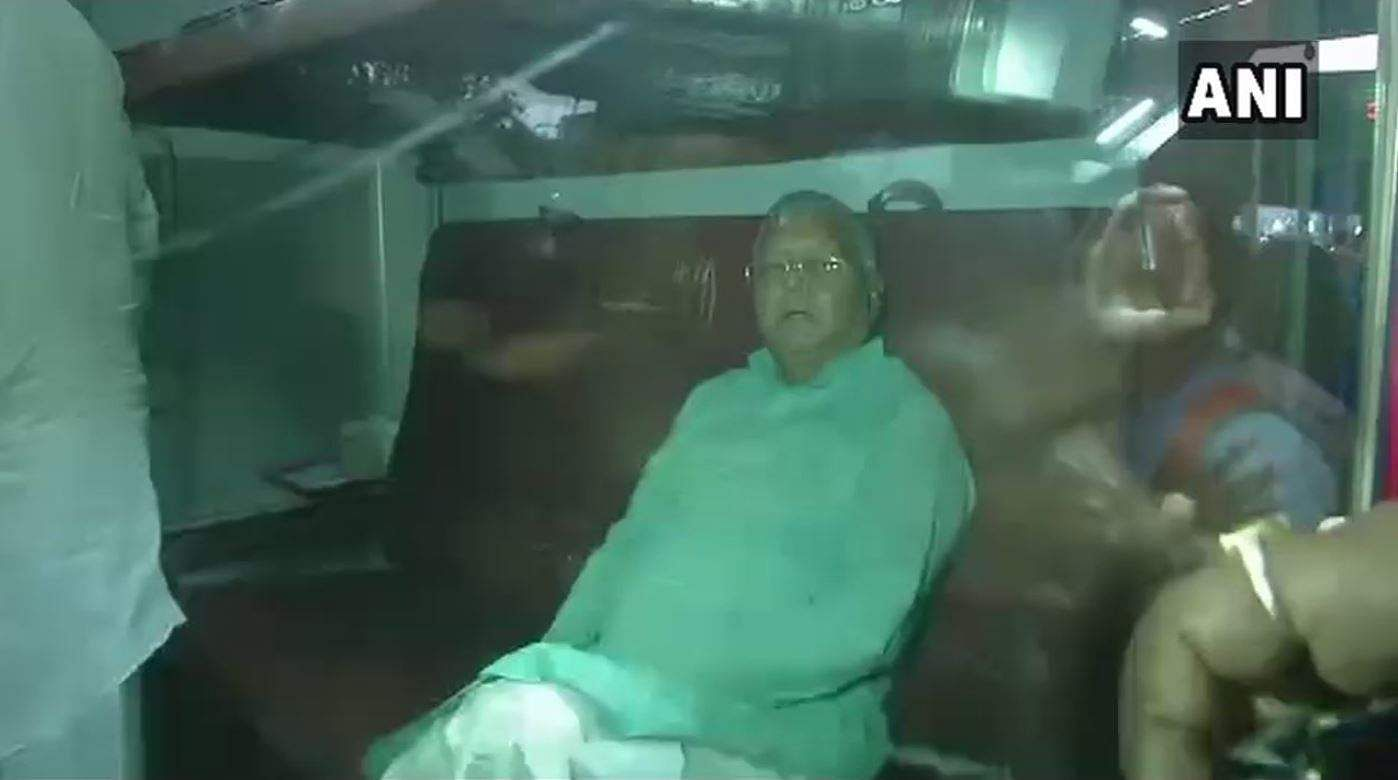RJD Chief Lalu Yadav Admitted To AIIMS For Specialised Treatment