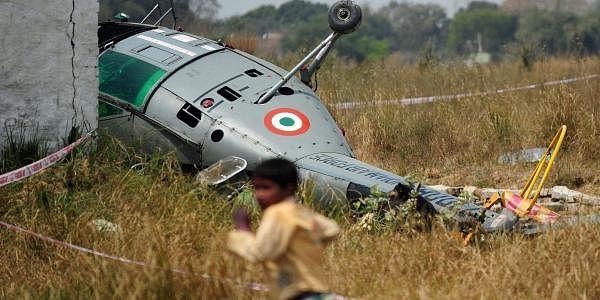 A Chetak helicopter of the Indian Coast Guard crashlanded near Mumbai on Saturday.   File Image