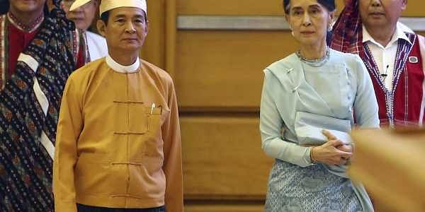 Aung San Suu Kyi loyalist Win Myint sworn in as Myanmar's new president-  The New Indian Express
