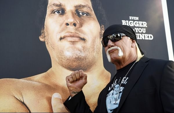 Professional wrestler Hulk Hogan poses at the premiere of the HBO documentary film 'Andre the Giant' at the ArcLight Hollywood in Los Angeles. | AP