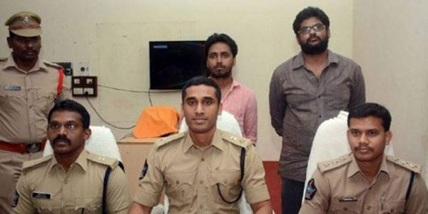 Police in East Godavari district of neighbouring Andhra Pradesh on Friday arrested two former students of the university - Ankala Prudvi Raj, 27, and Chandan Kumar Mishra, 28, from Pichukalapadu junction on Bhadrachalam-Charla Road late on Friday, a polic