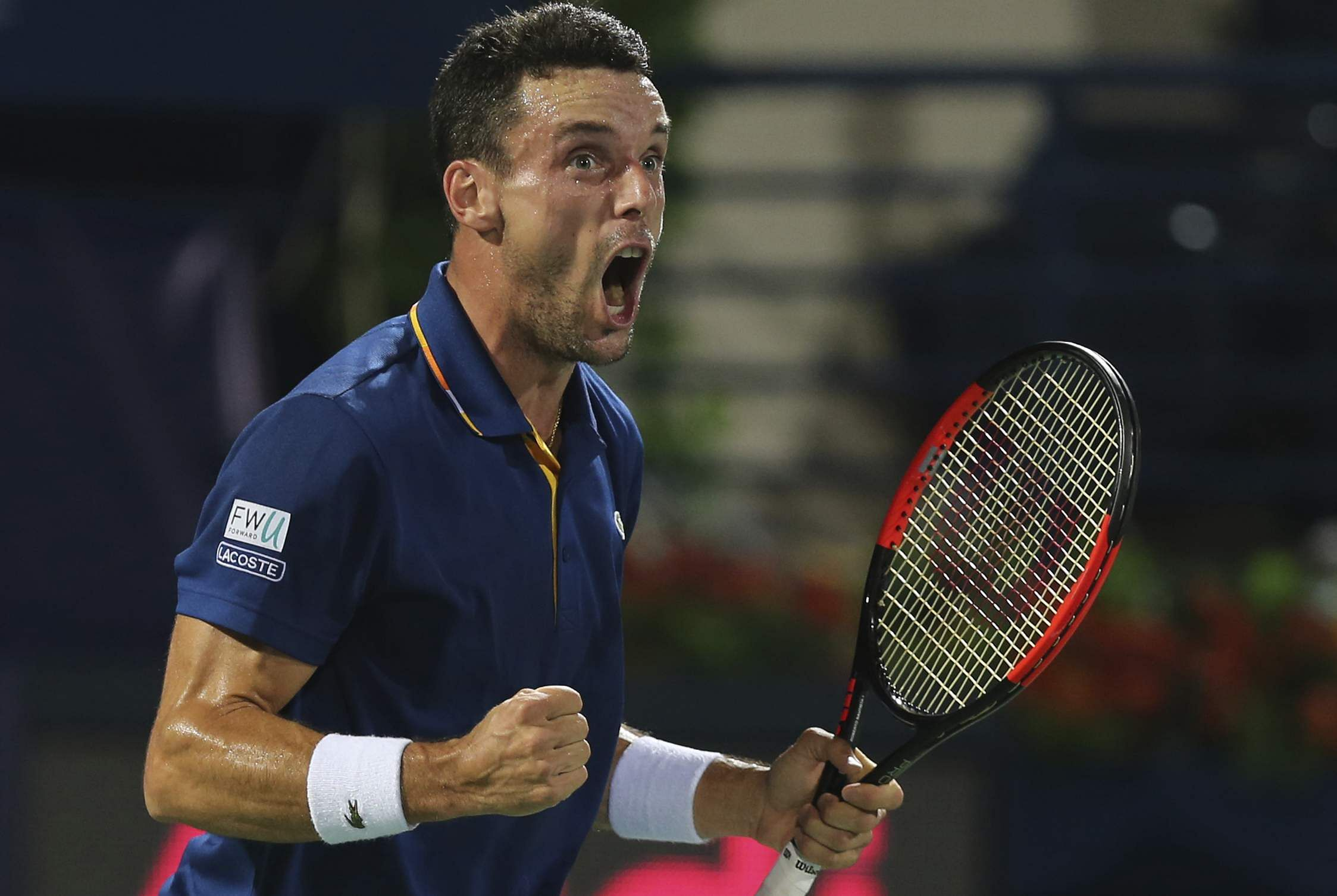 Bautista Agut beats Pouille in straight sets in Dubai final