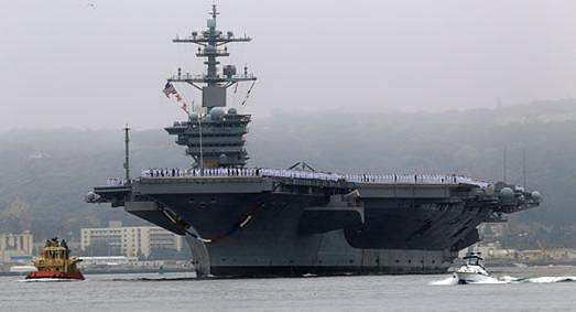 USA  aircraft carrier Carl Vinson in historic Vietnam visit