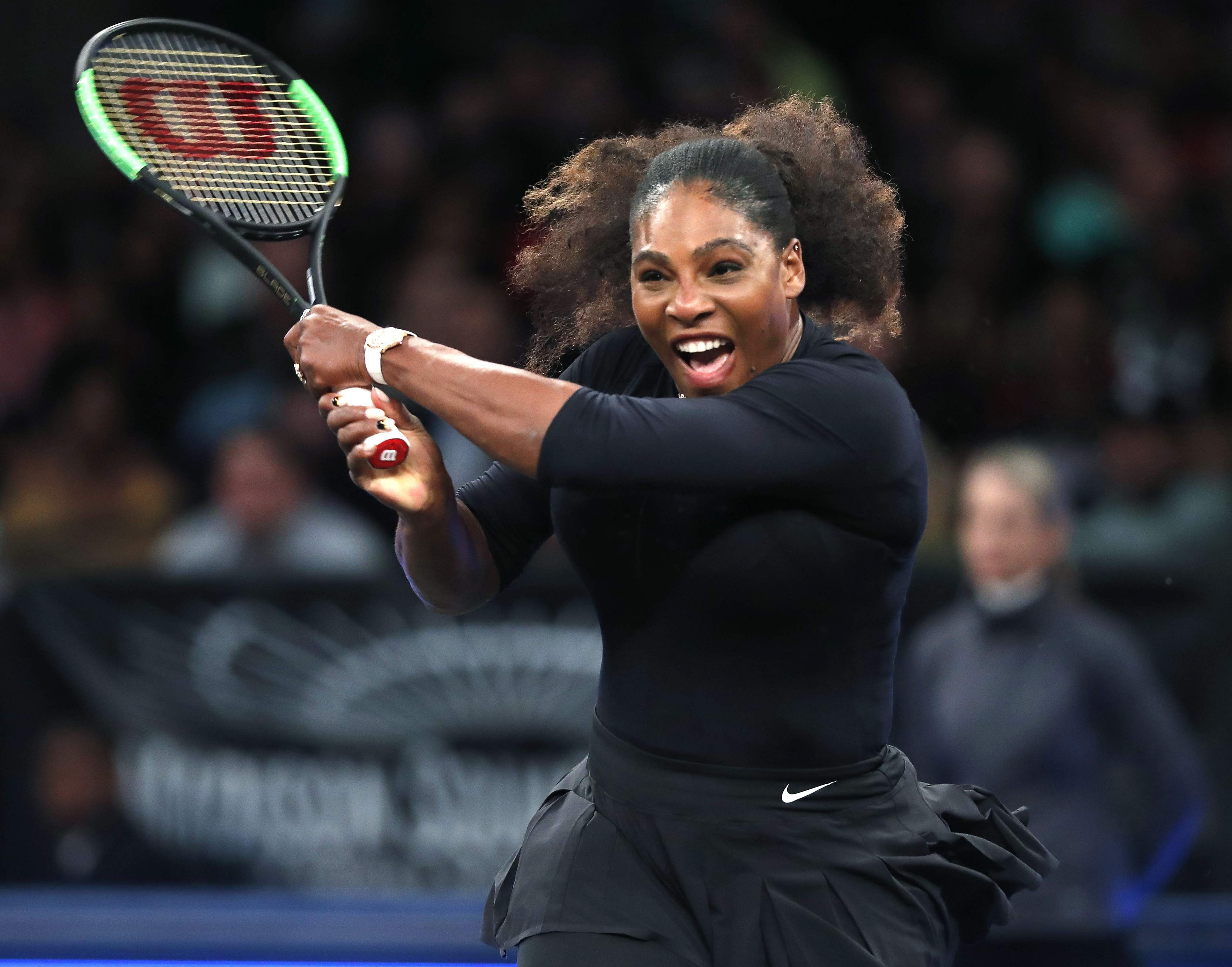 As serena williams returns venus says her game hasnt left the new serena williams returns to zhang shuai during the semi final round of the tie break tens tournament ap nvjuhfo Image collections