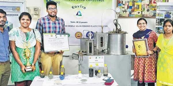 IIT-M students develop mobile unit that turns plastic waste into