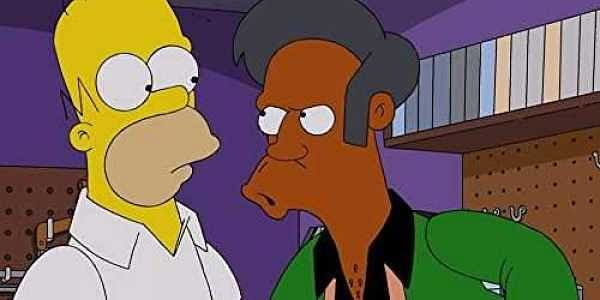 Apu Nahasapeemapetilon (right) from u0027The Simpsonsu0027 | IMDB & Simpsonsu0027 response to criticism over portrayal of Indian shop owner ...
