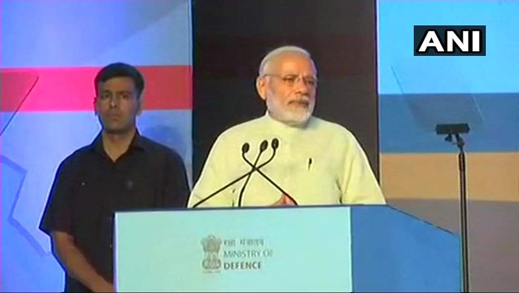 Narendra Modi hits out at Congress over defence paralysis