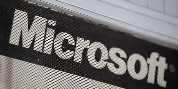 the microsoft logo is pictured at a service centre in new delhi file photo reuters