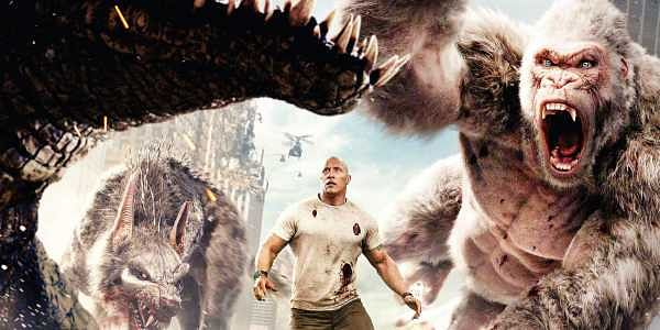 Rampage Movie Review A Passable Popcorn Monster Film Devoid Of