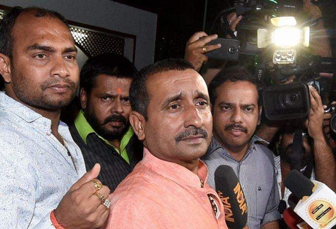 Unnao rape case: BJP MLA Kuldeep Singh claims was in Kanpur