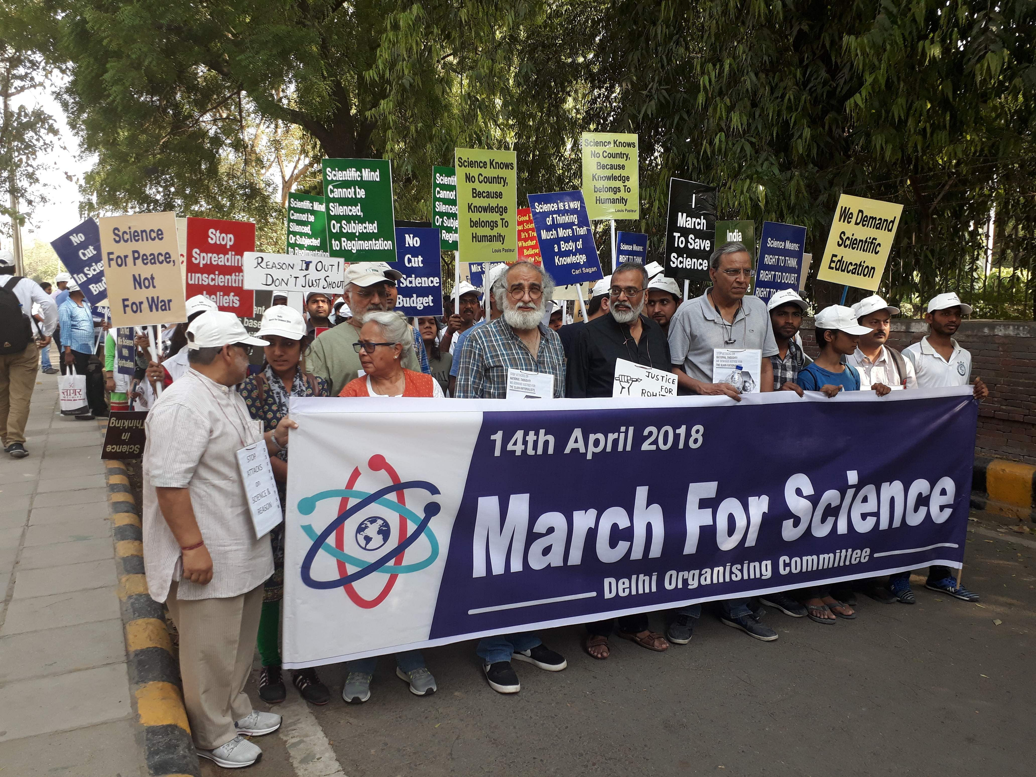 Dozens March For Science