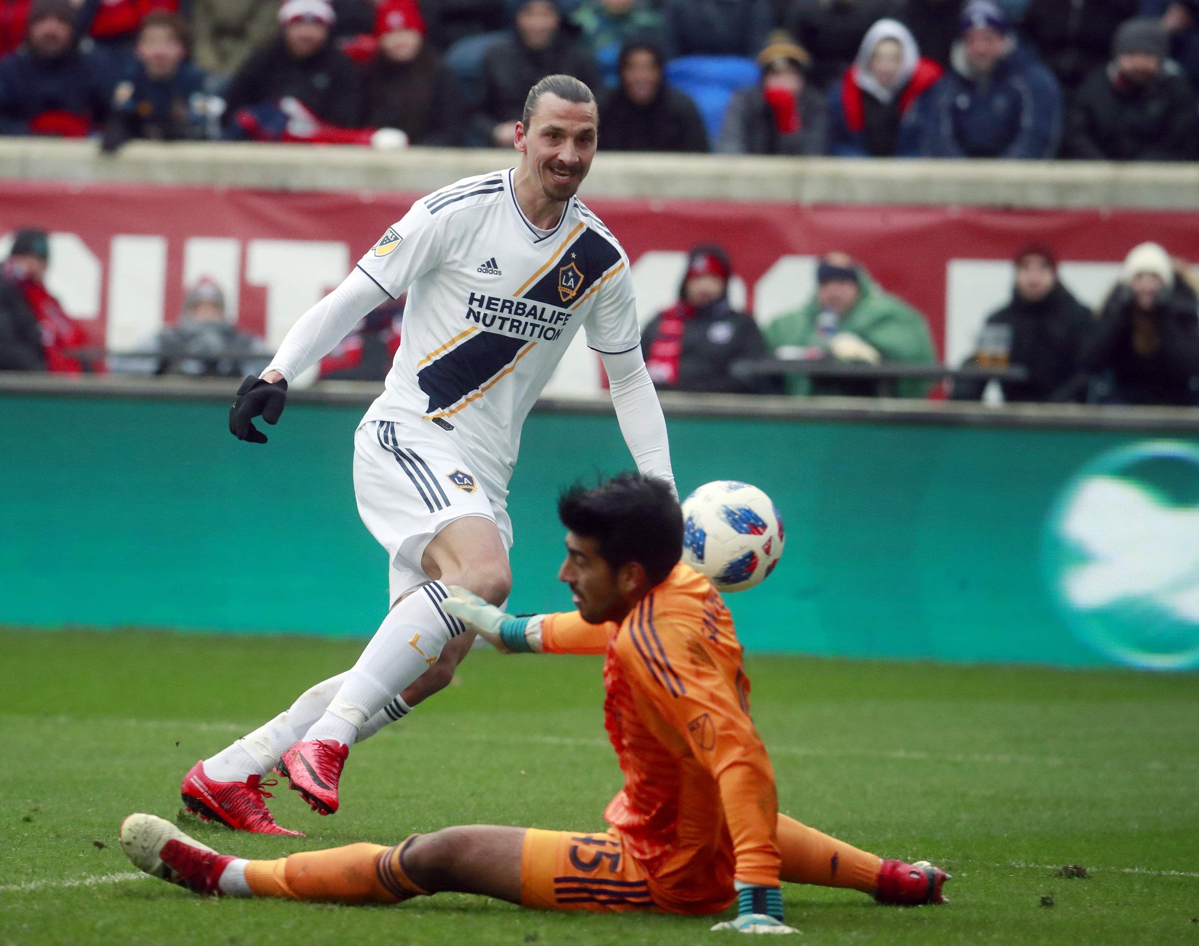 Ibrahimovic on target again as Galaxy douse Fire