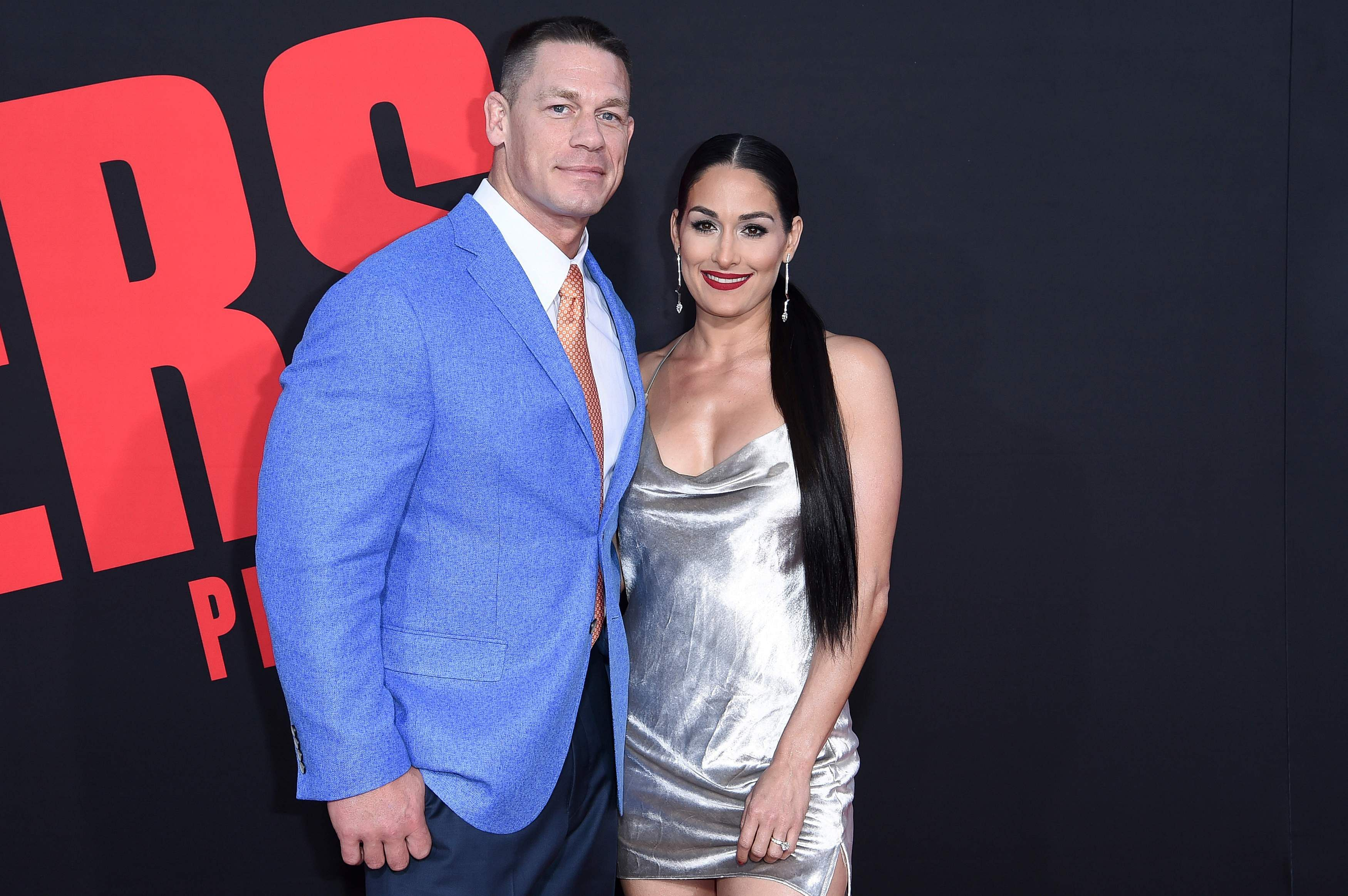 In this Tuesday, April 3, 2018, photo, John Cena, left, and Nikki Bella attend the LA Premiere of 'Blockers' at the Regency Village Theatre in Los Angeles. | AP