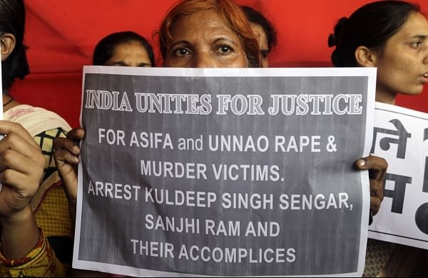 Activist of various organizations protest against recent incidents of rape in the country, in Mumbai. Image used for representational purpose only.  (File Photo   AP)
