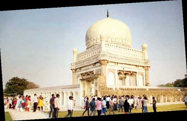 Visitors throng Qutb Shahi Heritage Park after it was thrown open for public on Wednesday | K SATHY KEERTHI